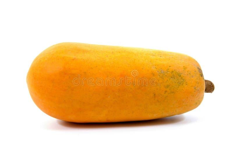 Papaya fruit isolated on a white background. Papaya isolated. Ripe papaya isolated. Yellow papaya isolated. Fresh papaya isolated royalty free stock image