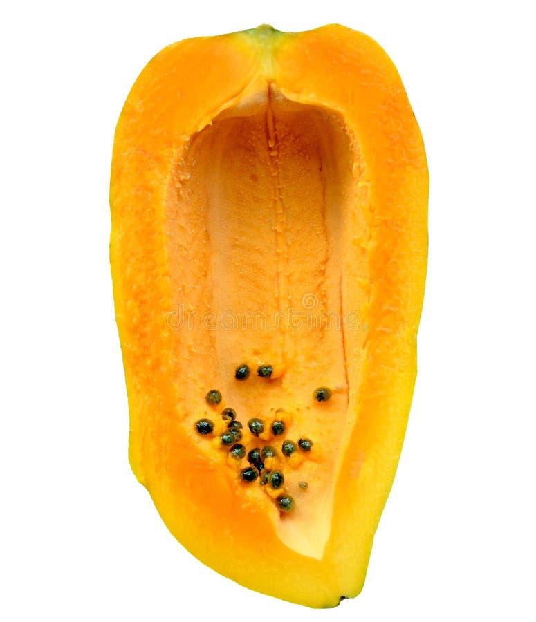 Papaya geschnittene Früchte lizenzfreie stockfotos