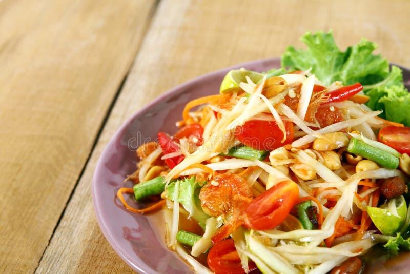 Papaya salad royalty free stock photos