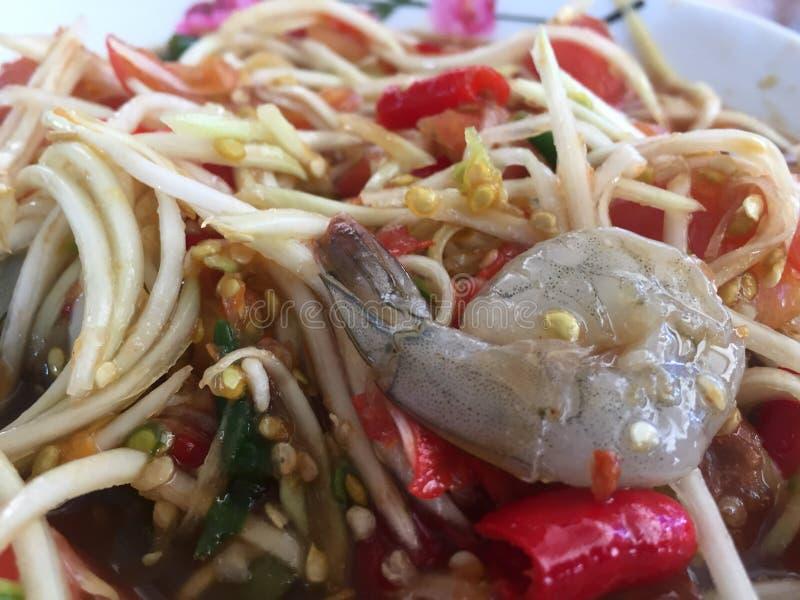 Papaya salad royalty free stock photo