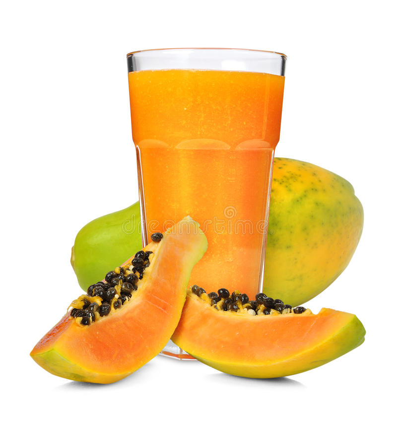 Papaya smoothie stock photo