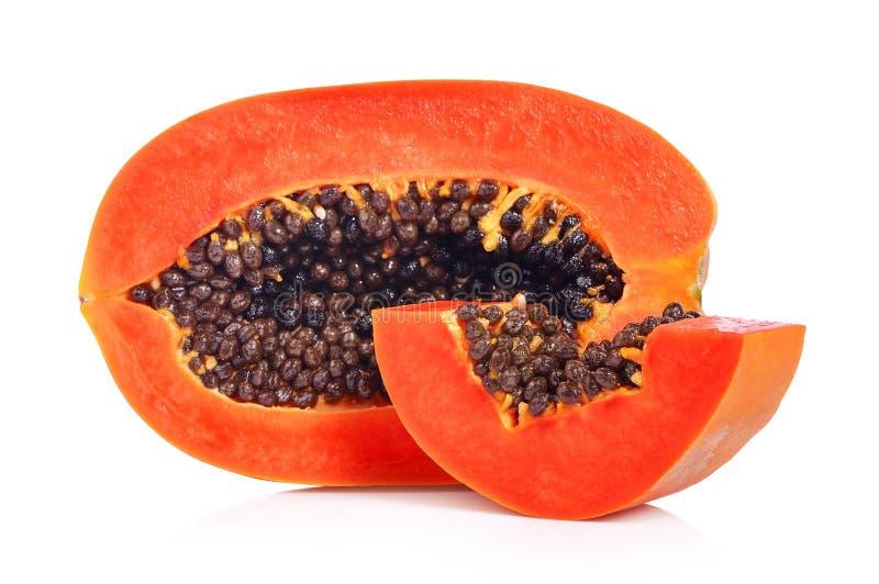 Papaya on white background. Papaya on a white background stock images