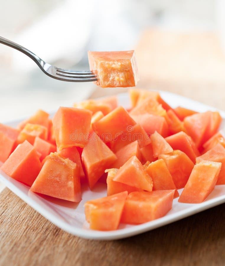 Download Papaya on white dish stock photo. Image of food, toothsome - 24148618