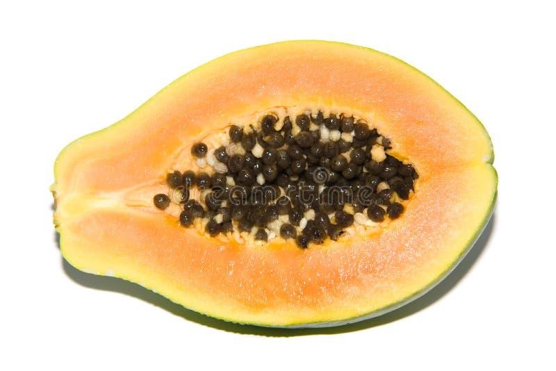 Papayafrucht geschnitten stockfotos