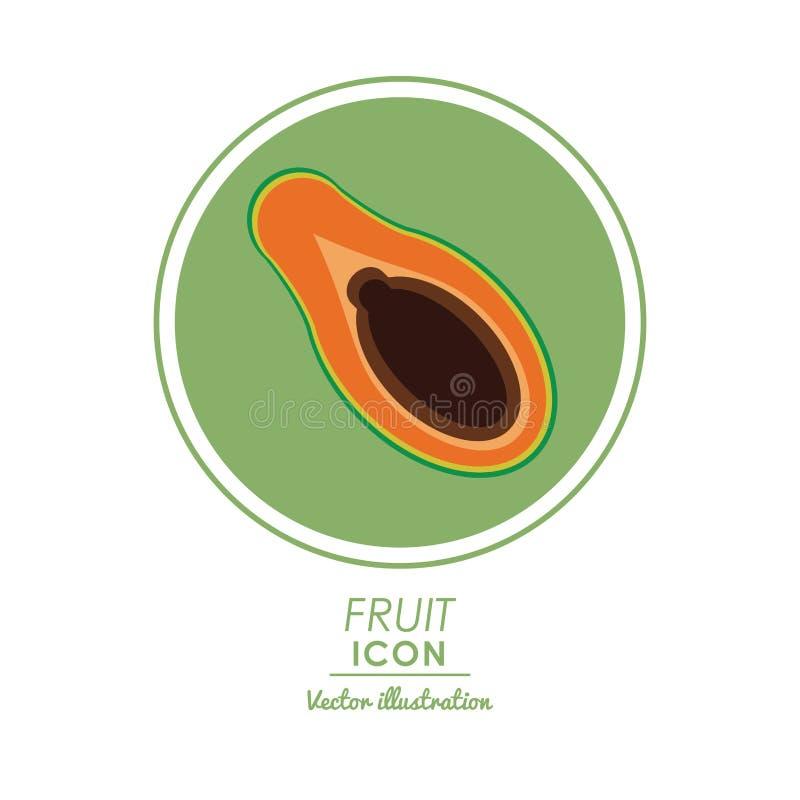 Papayasymbol Sund matdesign som stylized swirlvektorn för bakgrund det dekorativa diagrammet vågr royaltyfri illustrationer