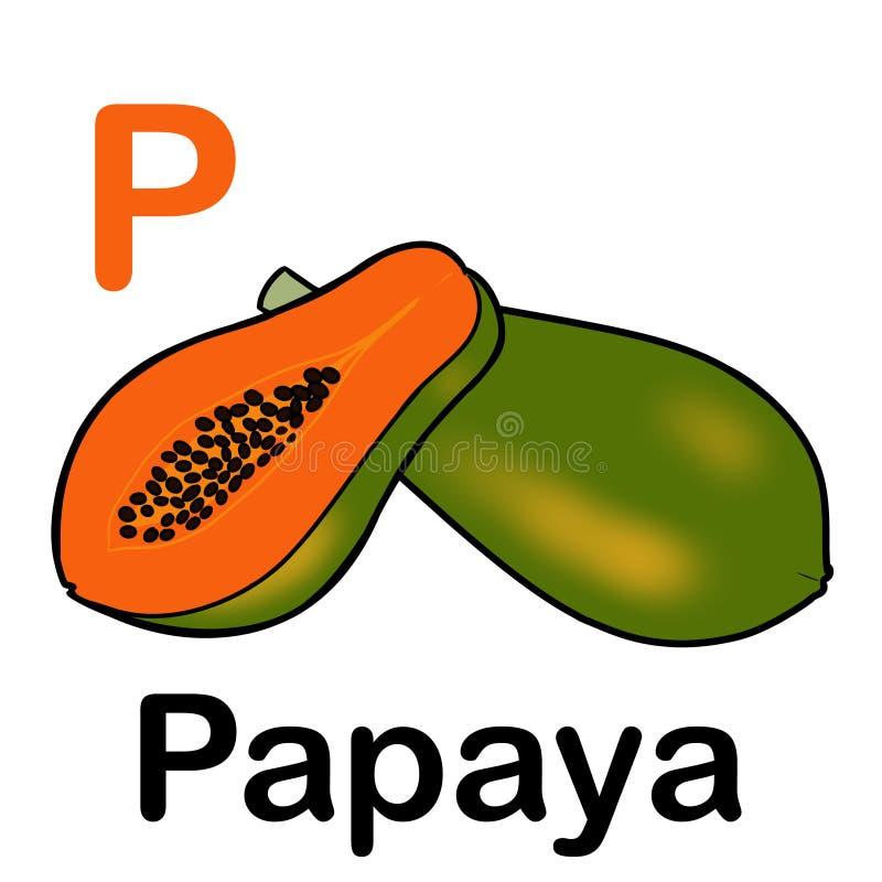 Papaye mûre entière et demi image stock