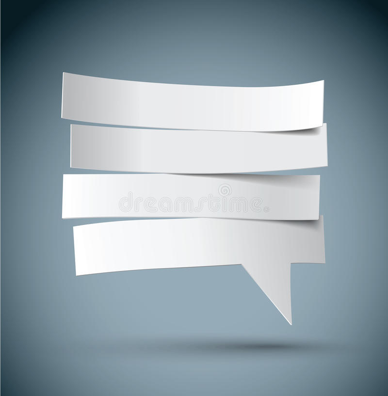 Pape cut speech bubble royalty free illustration