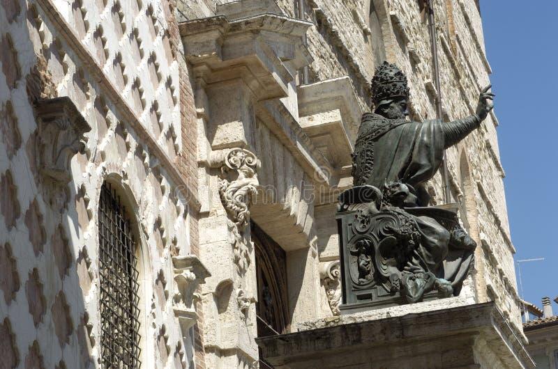 Pape Jules III, Pérouse, Italie photographie stock