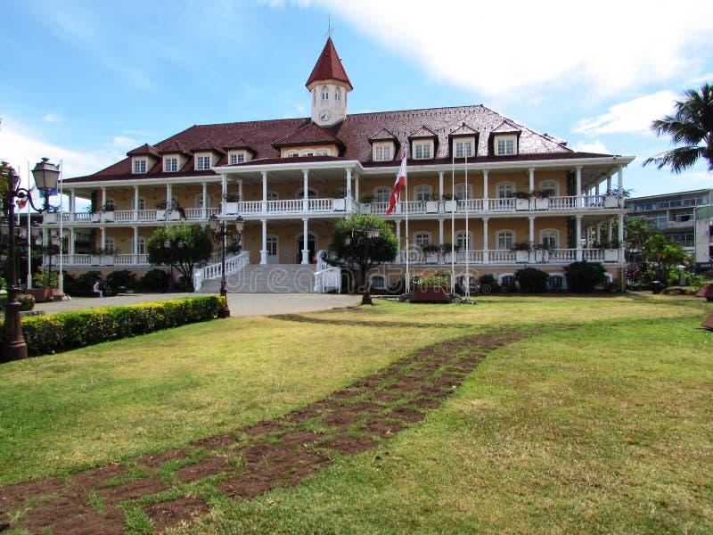 Papeete Ταϊτή Δημαρχείο στοκ εικόνα