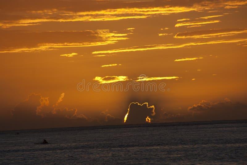 Papeete-Sonnenuntergang stockfotos