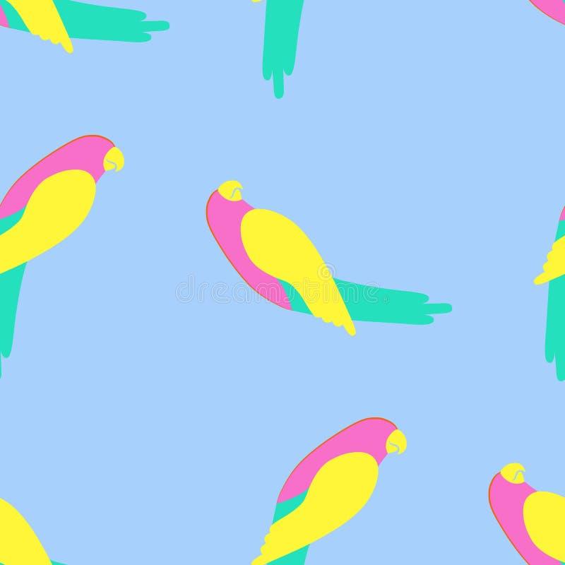 Papegaai naadloos patroon stock illustratie
