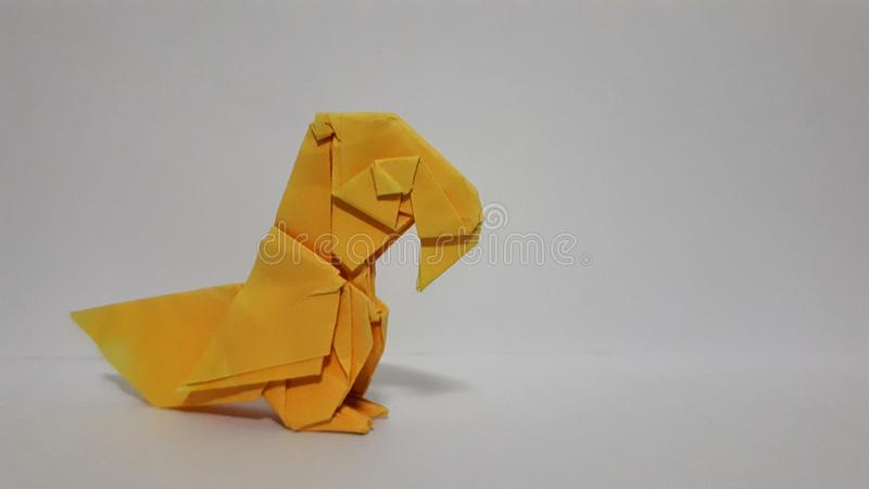 Papegaai oranje document royalty-vrije stock afbeelding