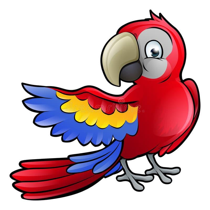 Papegaai Safari Animals Cartoon Character stock illustratie