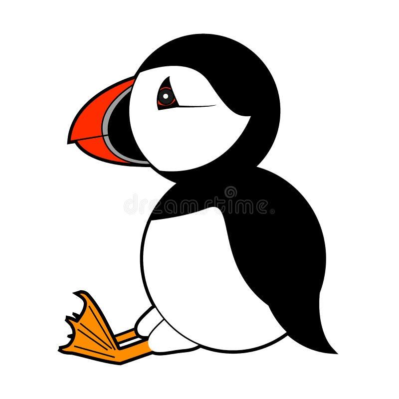 Papegaaiduiker vectorillustratie op witte achtergrond vector illustratie