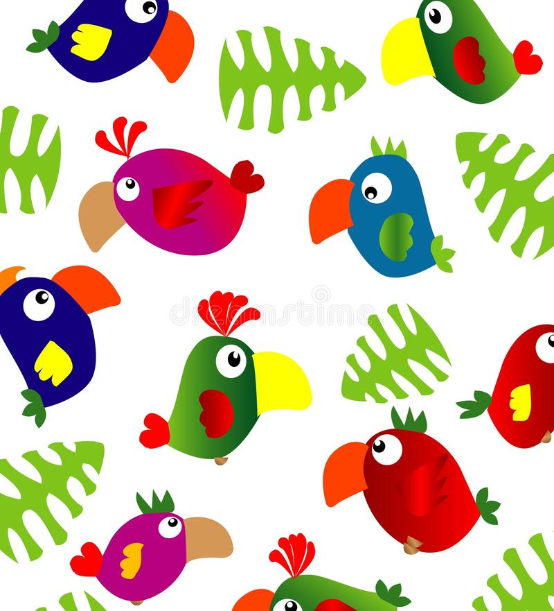 Papegaaien royalty-vrije illustratie