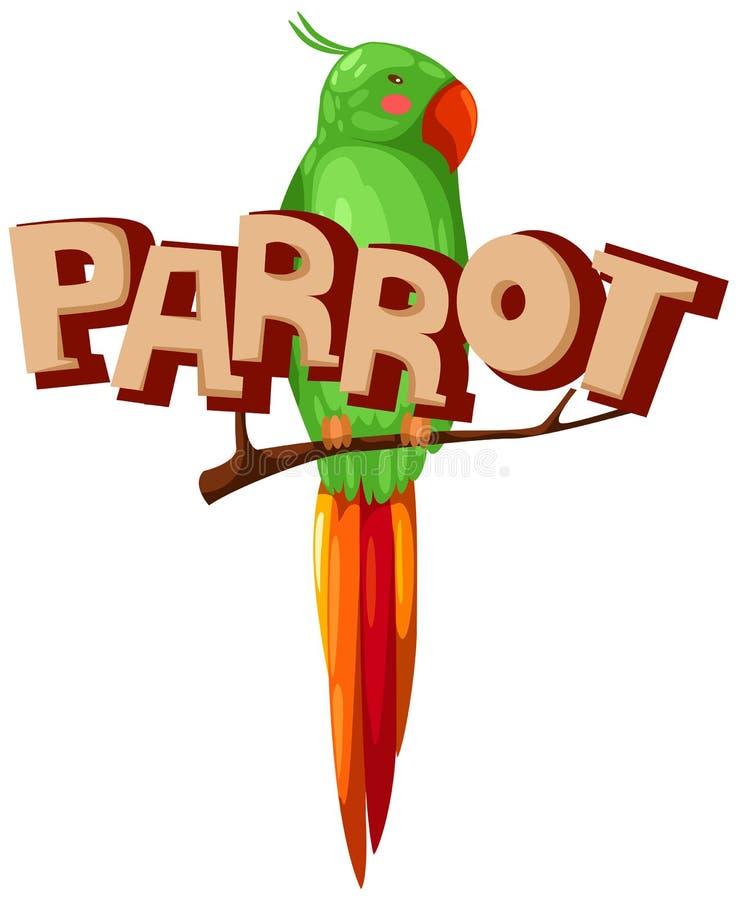 papegoja royaltyfri illustrationer