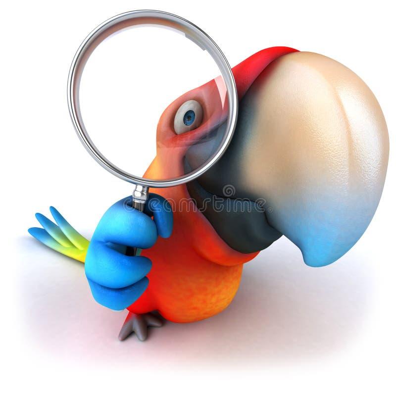 papegoja stock illustrationer