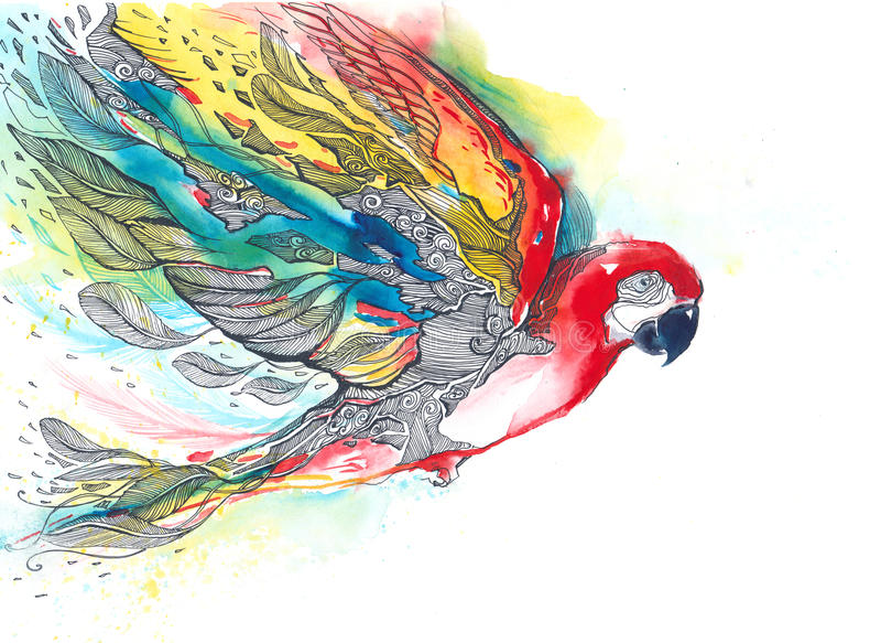 papegoja vektor illustrationer