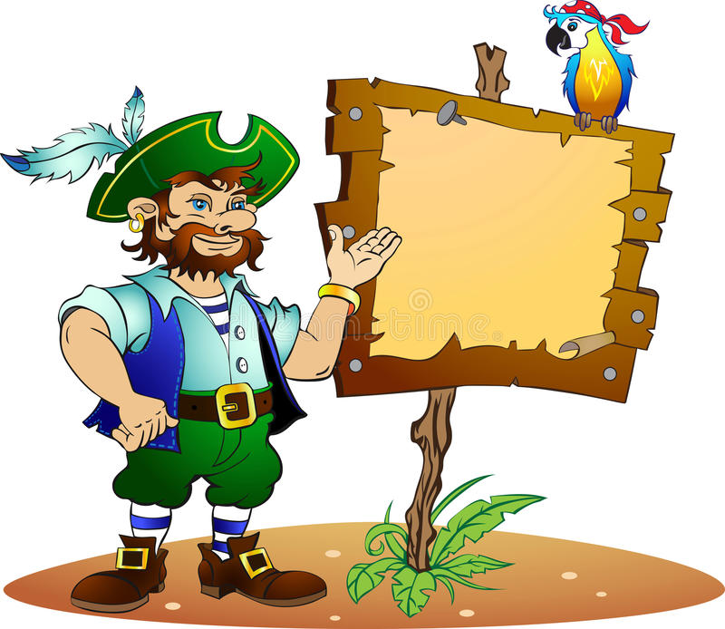 papegojan piratkopierar stock illustrationer
