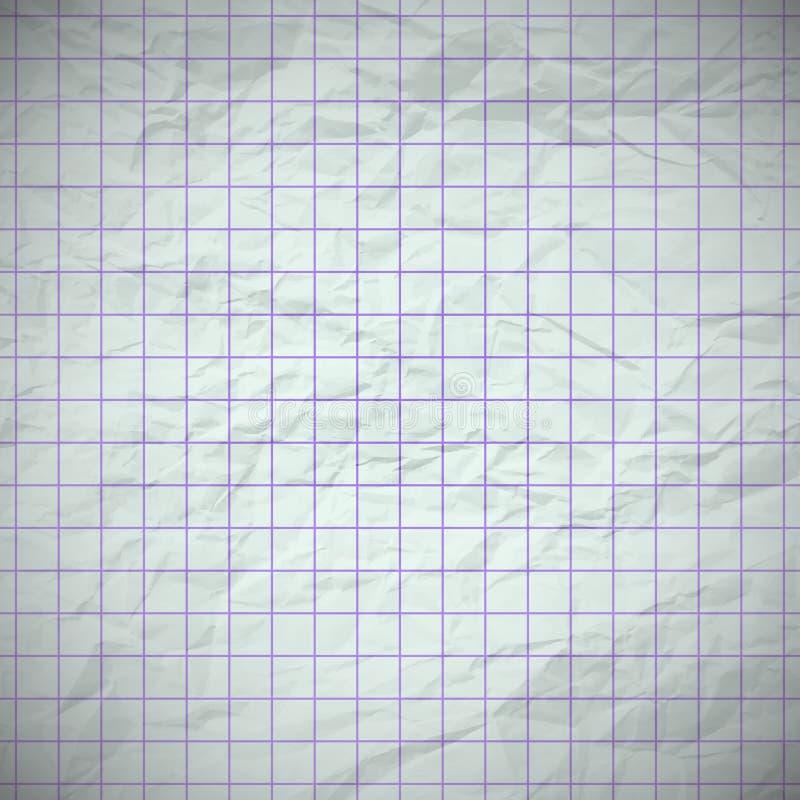 Papel abollado viejo del cuaderno ilustración del vector