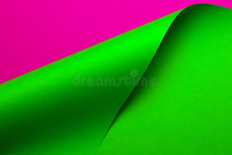 Papel abstrato da cor em formas geométricas fotos de stock royalty free
