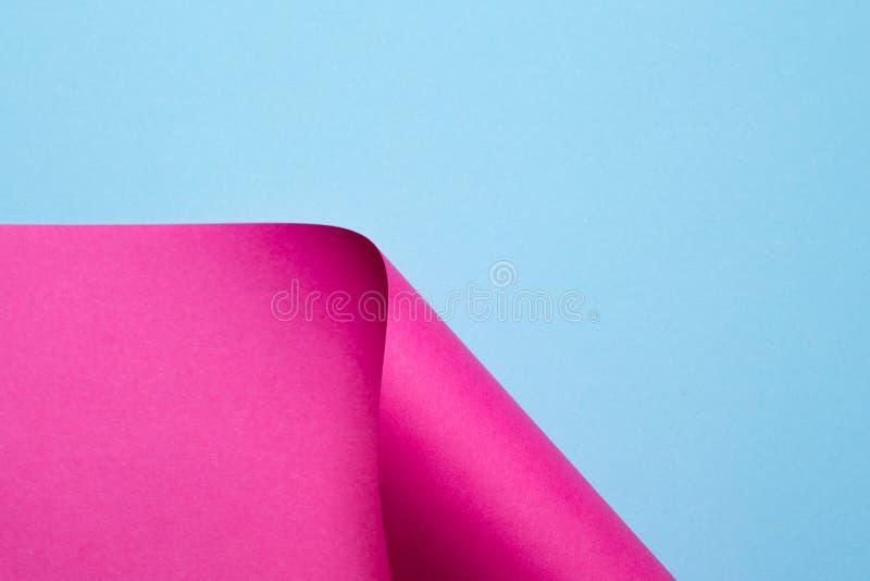 Papel abstrato da cor em formas geométricas fotografia de stock royalty free