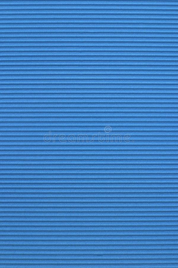 Papel acanalado azul del color foto de archivo libre de regalías