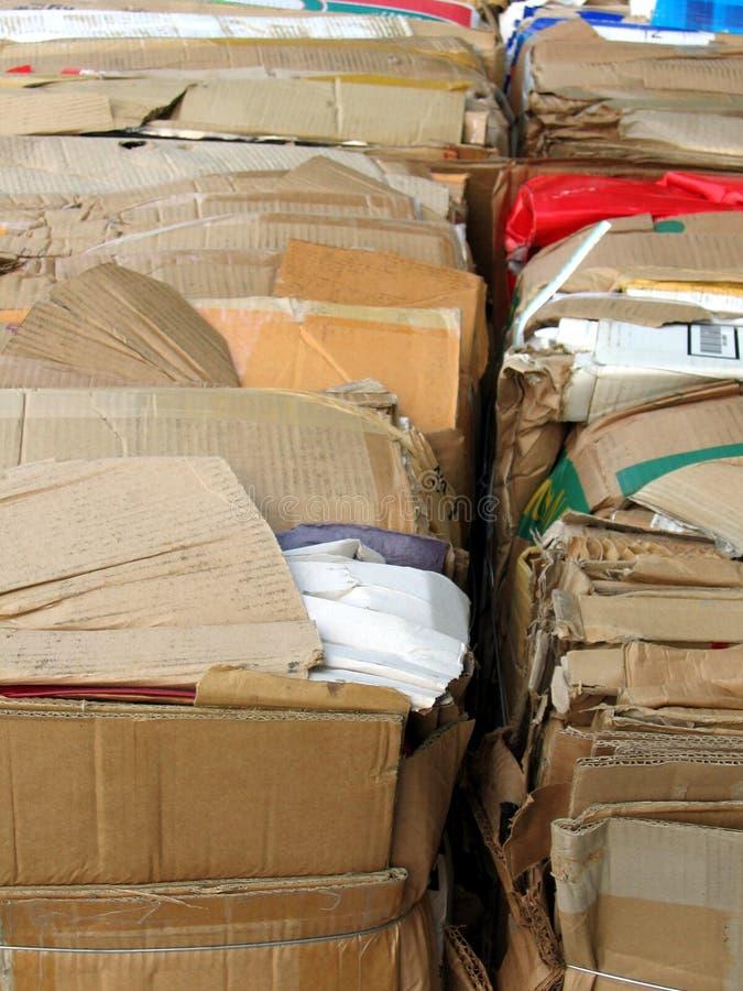 Papel acanalado a reciclar imagen de archivo libre de regalías
