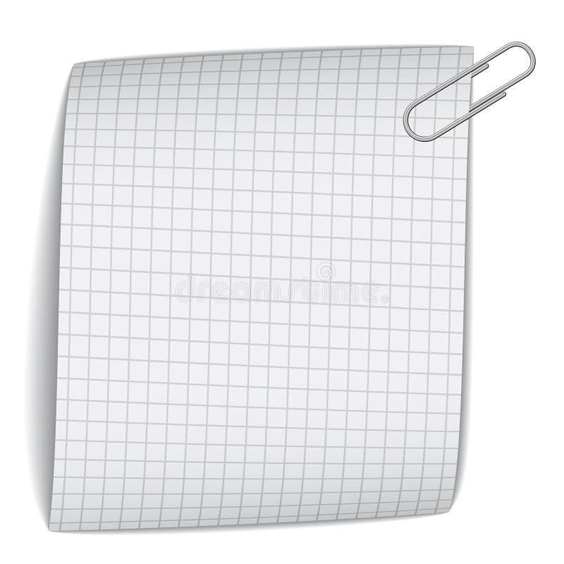 Papel ajustado con el paperclip libre illustration