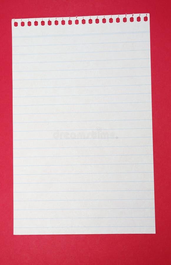 Papel alinhado imagem de stock