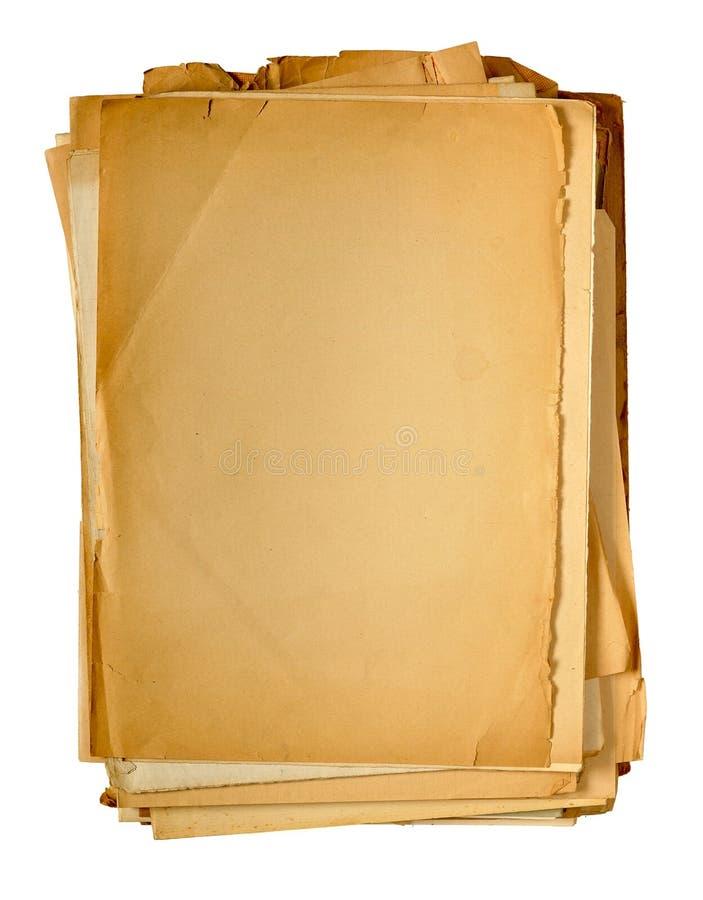 Papel amarilleado vendimia foto de archivo libre de regalías