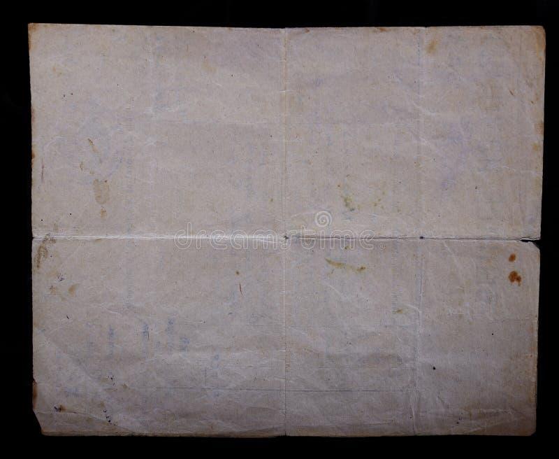 Papel amarilleado viejo vintage de la textura, papeles fotografía de archivo libre de regalías