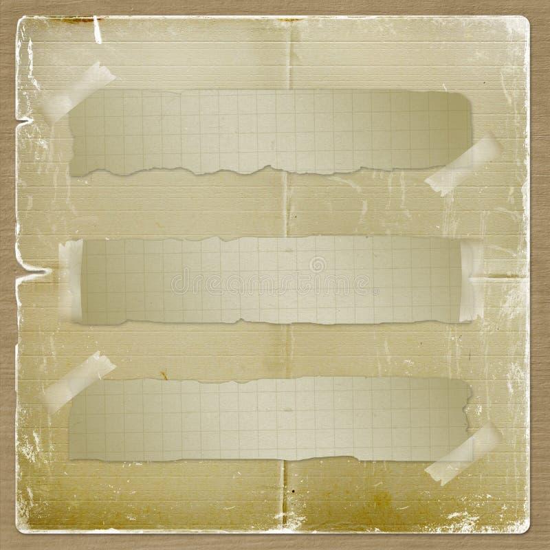 Papel Amarillo Rasgado Sujetado Con La Cinta Adhesiva Fotos de archivo
