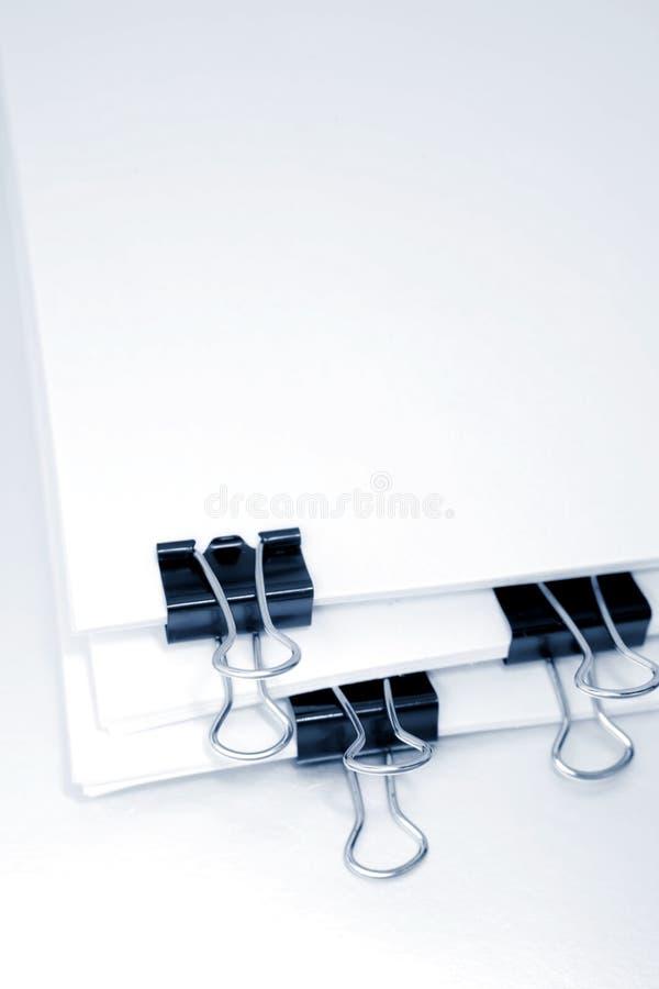 Papel & grampos foto de stock