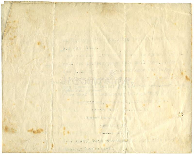 Papel antigo, 1916 foto de stock royalty free
