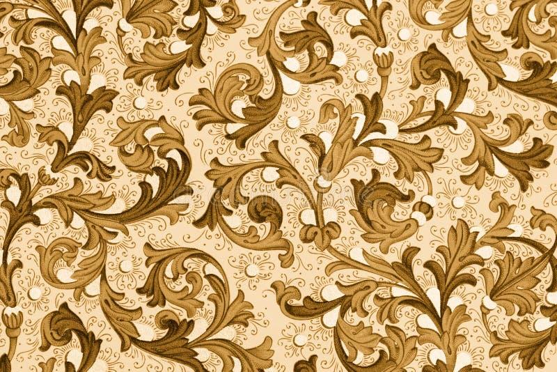 Papel antigo com teste padrão floral ilustração stock