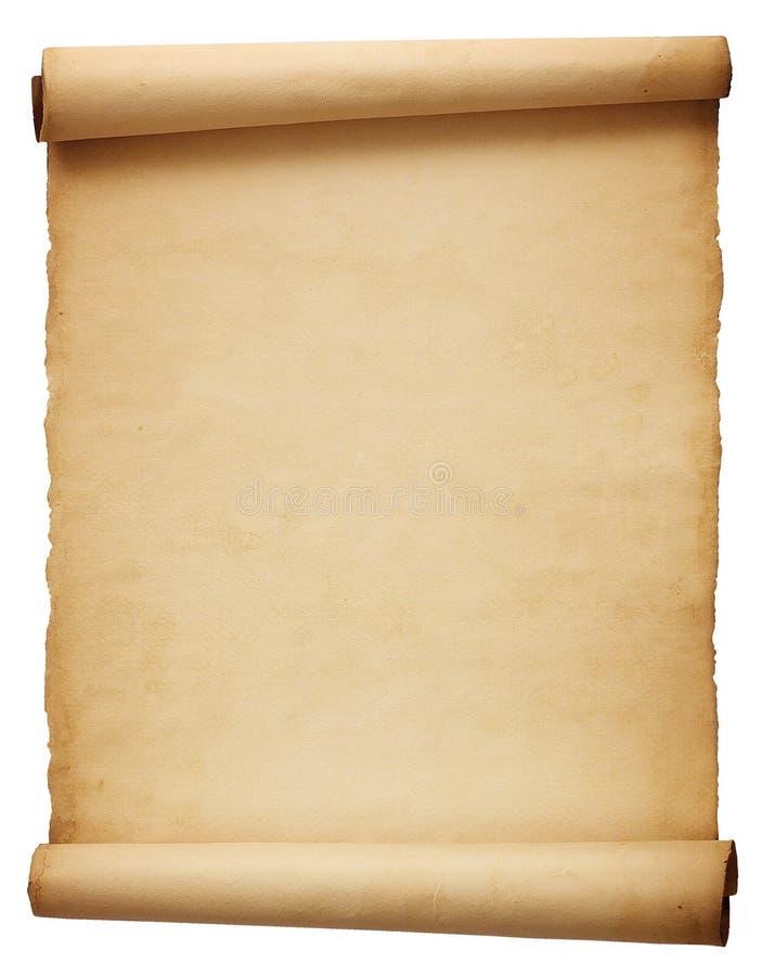 Papel antigo velho do rolo ilustração royalty free