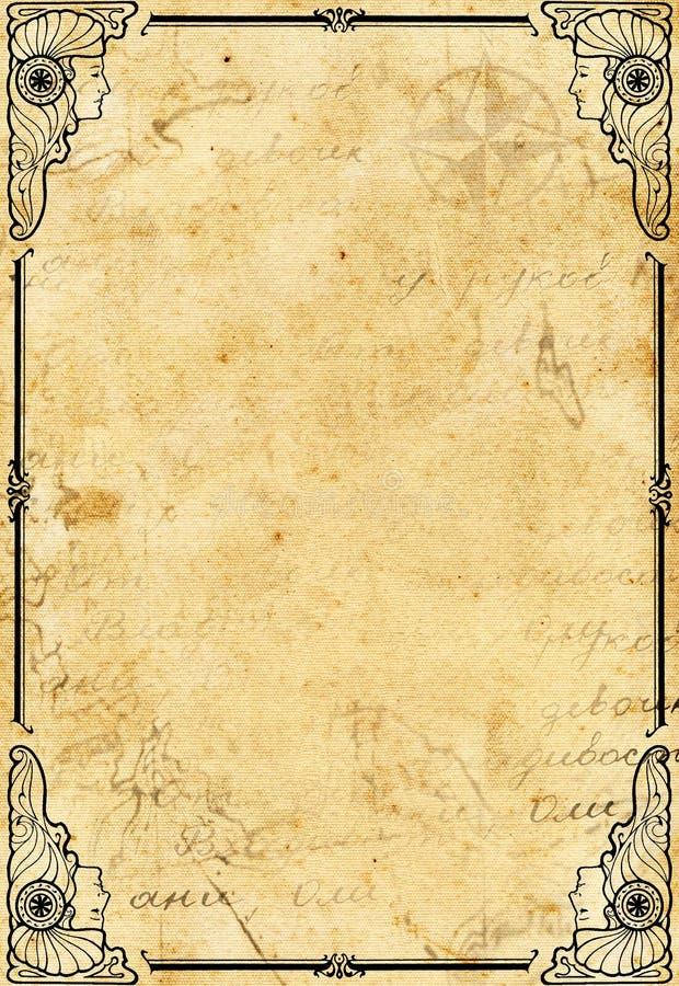 Papel antiguo stock de ilustración