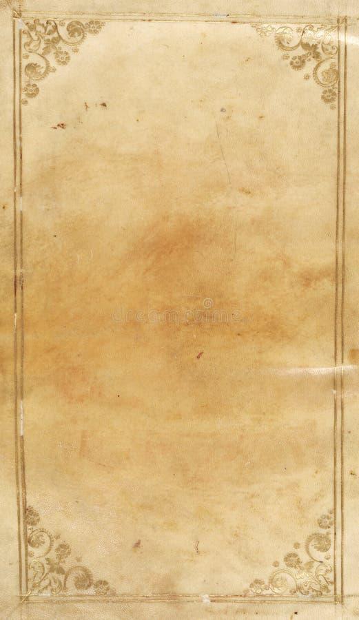 Papel antiguo con el ajuste del filagree del oro ilustración del vector