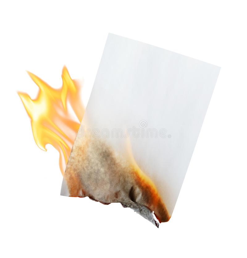 Papel ardente imagem de stock