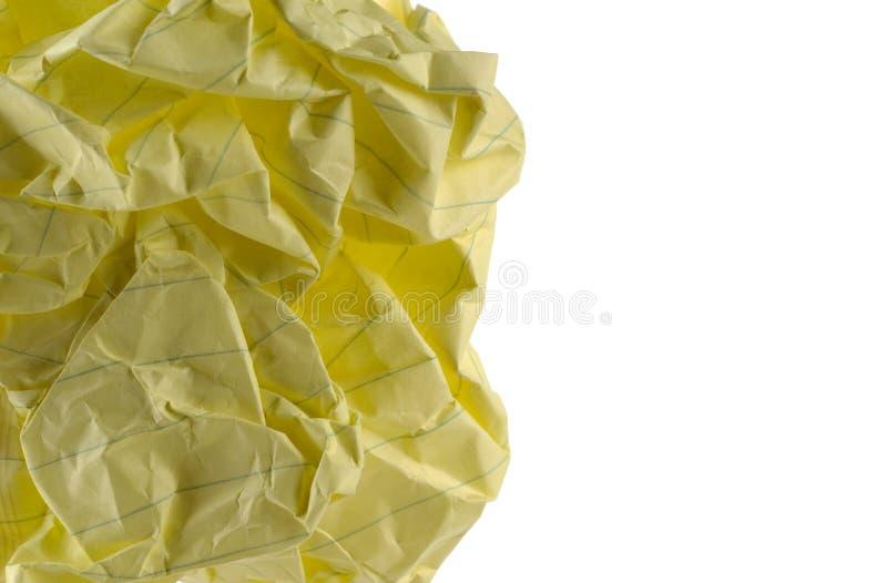 Papel arrugado. imagen de archivo