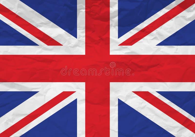 Papel arrugado bandera BRITÁNICA libre illustration