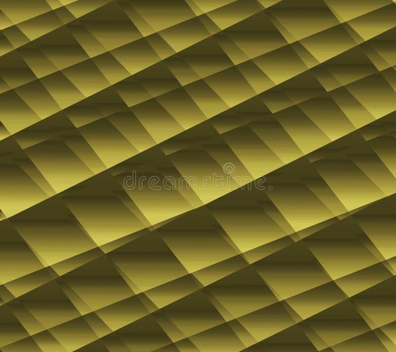 Papel arrugado decorativo efectos 3D Papel elegante dorado Bueno para los saludos, las tarjetas del deseo y las invitaciones Pape stock de ilustración