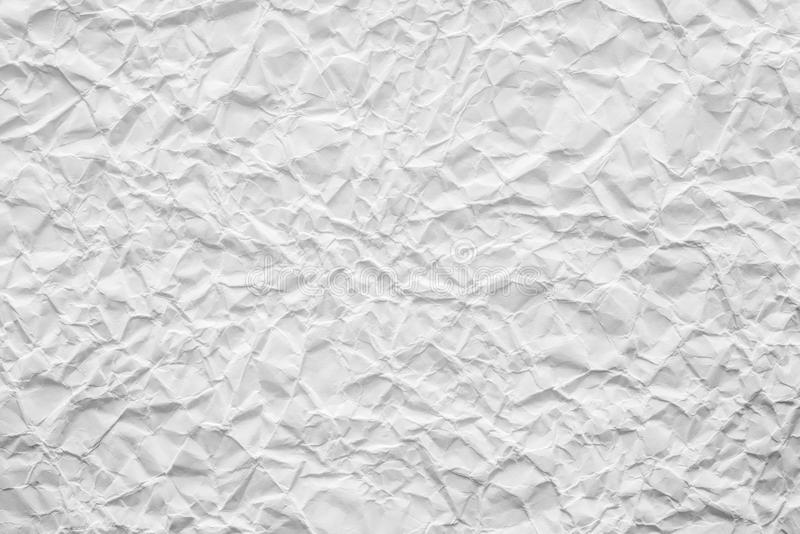 Papel Arrugado Viejo De La Textura Del Color Blanco Foto