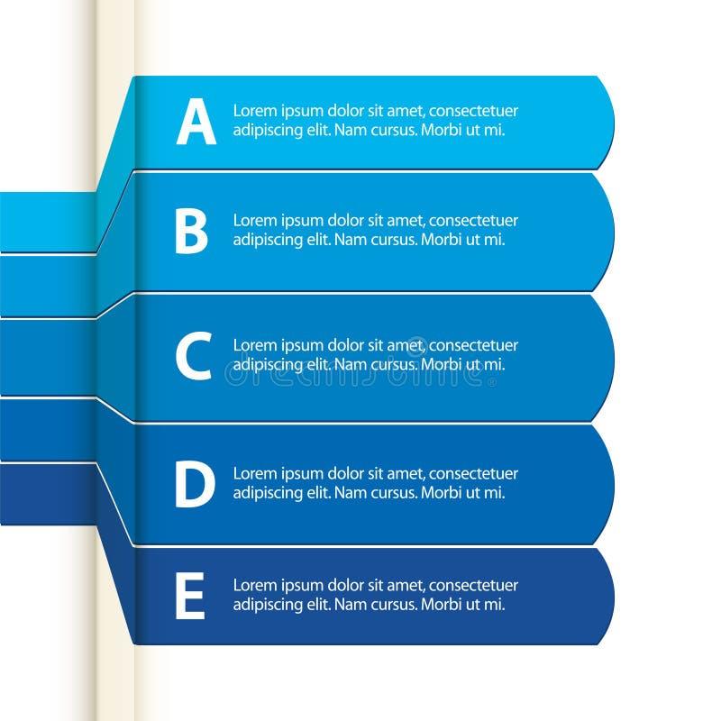 Papel azul infographic ilustração do vetor