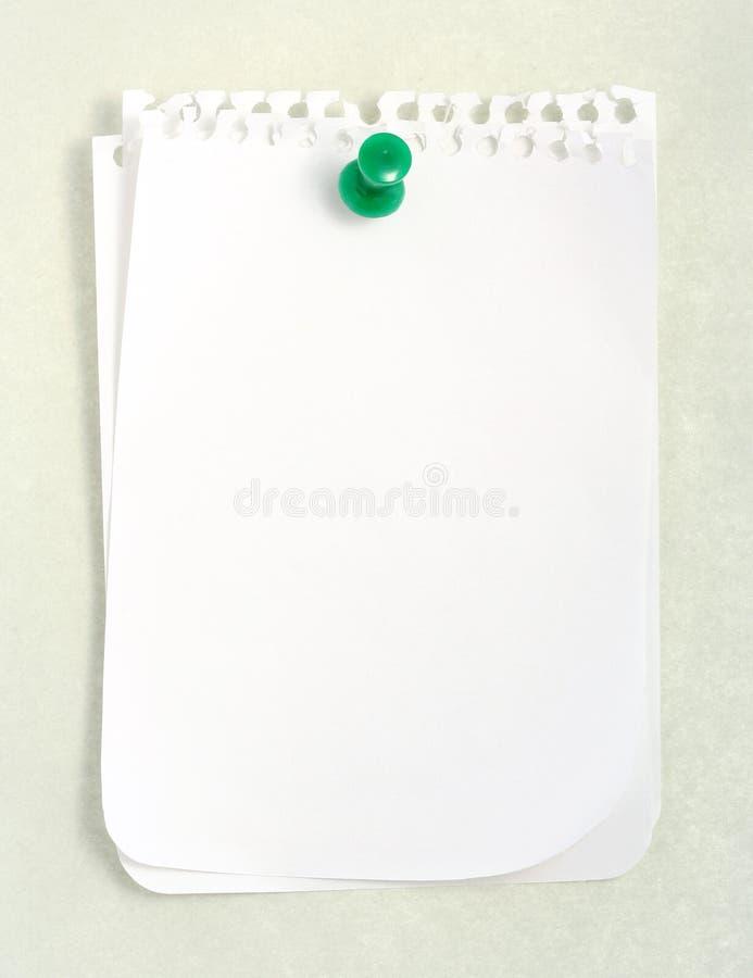 Papel blanco del cuaderno foto de archivo