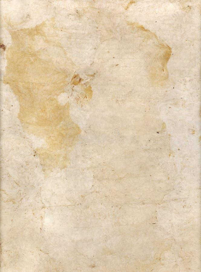 Papel blanqueado de la corteza foto de archivo