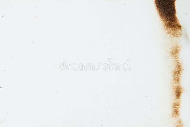 Papel chamuscado aislado fotos de archivo
