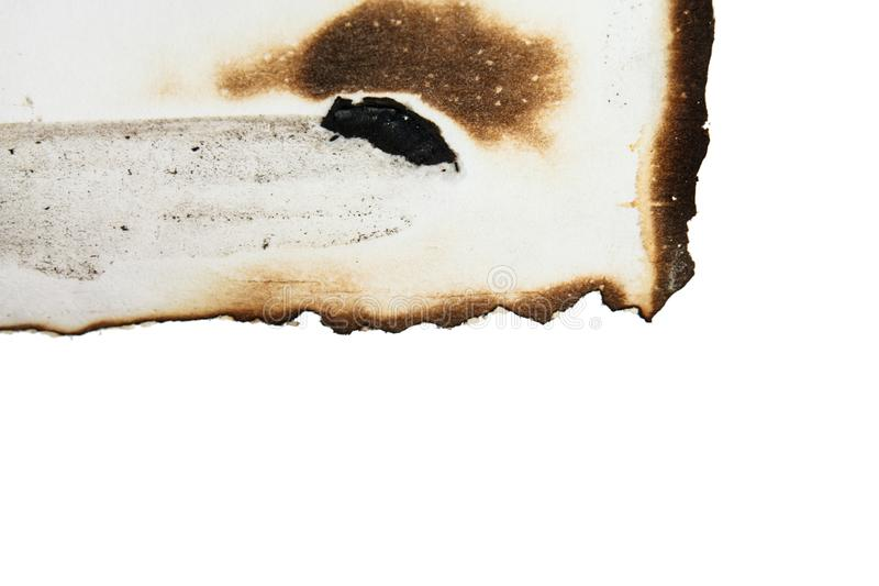 Papel chamuscado aislado imagen de archivo
