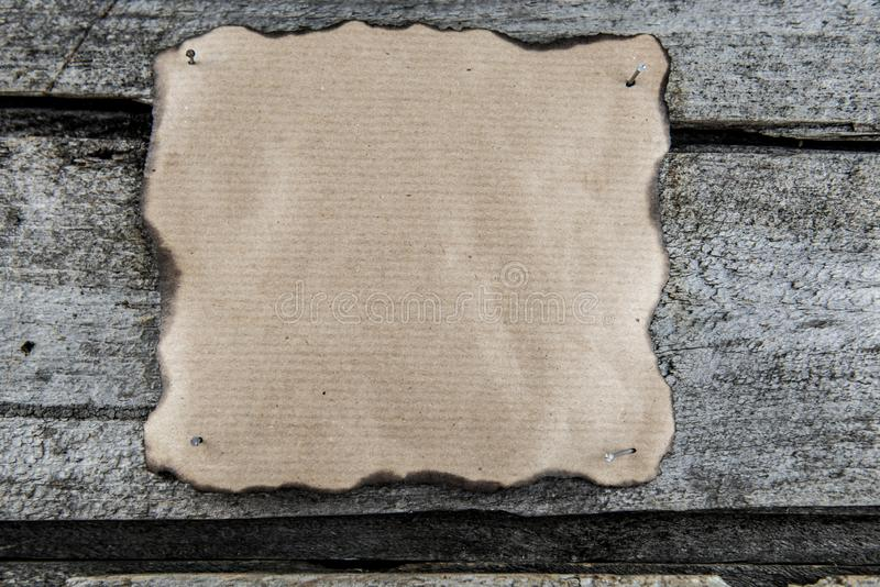Papel clavado listo para el texto fotografía de archivo